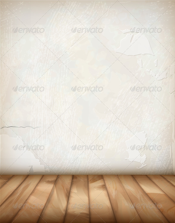 GraphicRiver Vector Plaster Wall Wood Floor 8520079