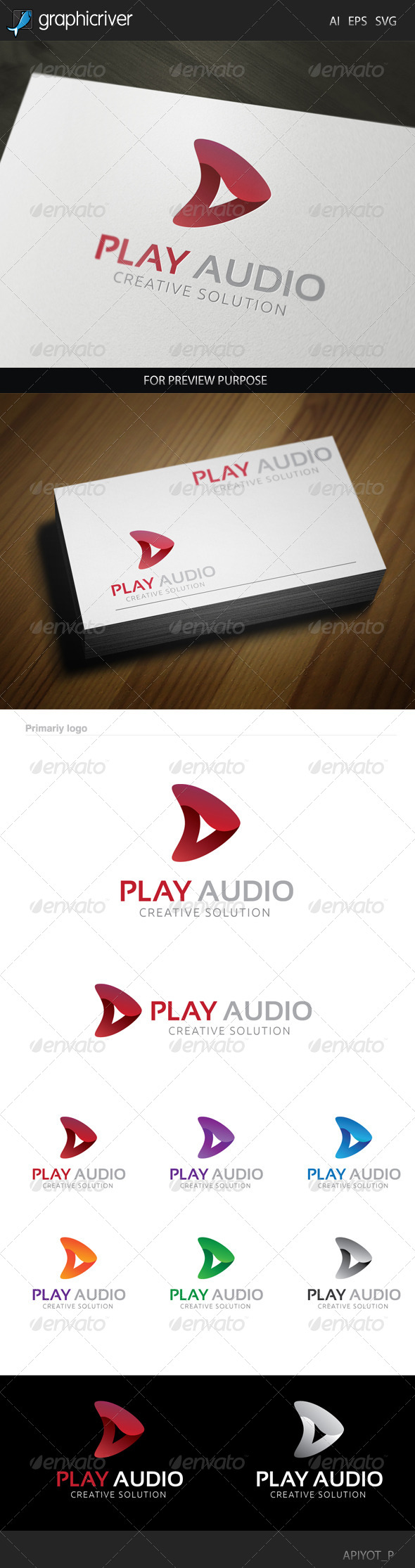 GraphicRiver Play Audio Logo 8520080