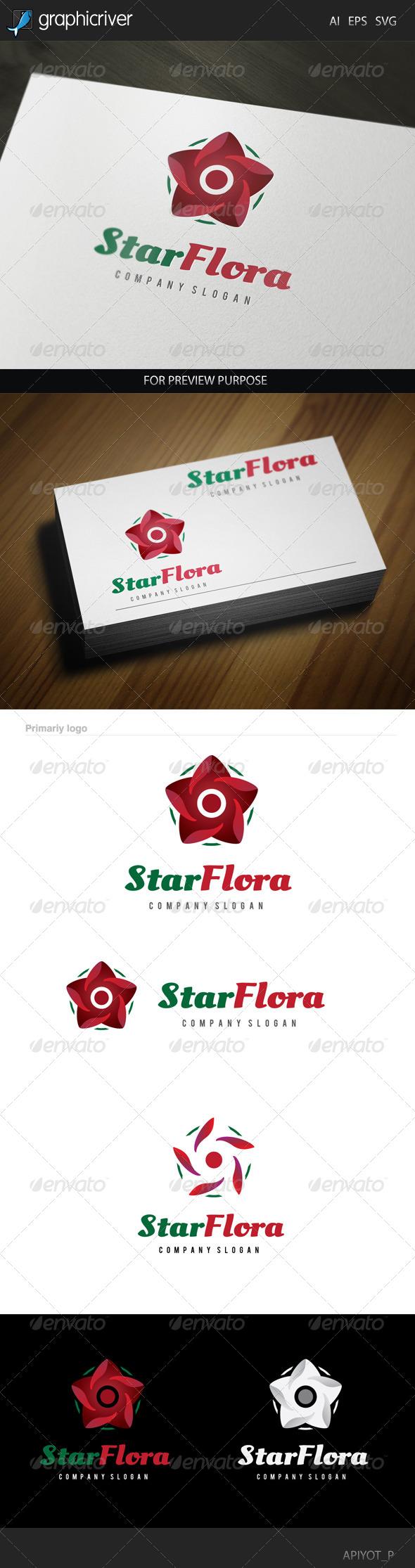 GraphicRiver Star Flora Logo 8520139