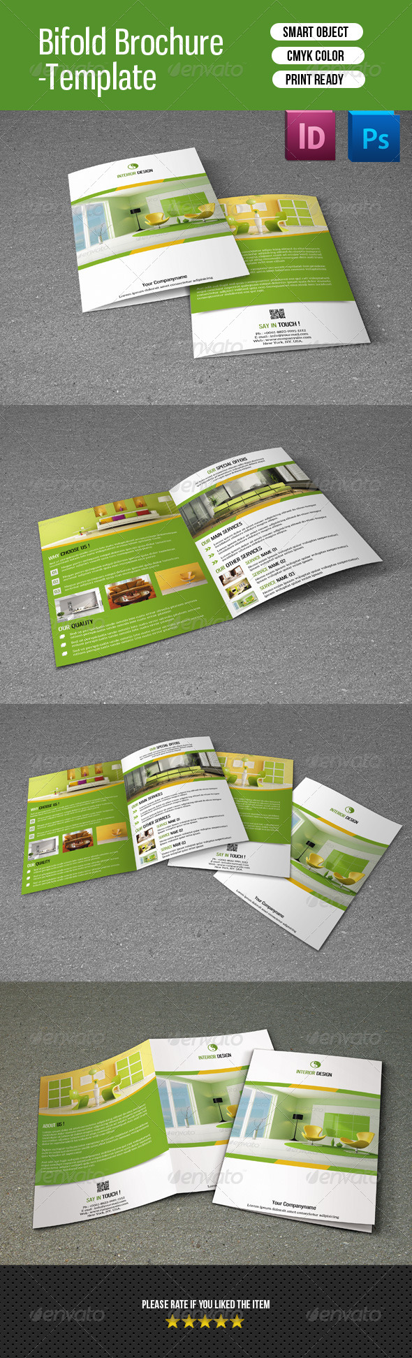 Bifold Brochure for Interior Design-V107