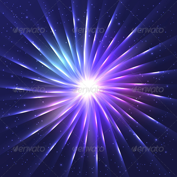 GraphicRiver Abstract Neon Shining Vector Star 8520205