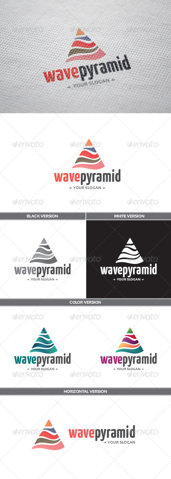 GraphicRiver WavePyramid Logo 8520427