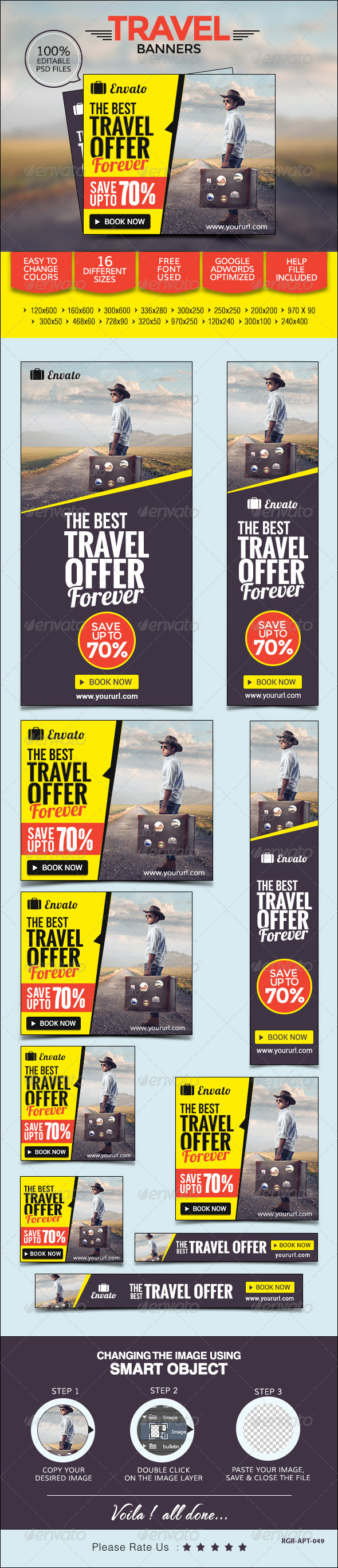 GraphicRiver Travel Banners 8520437