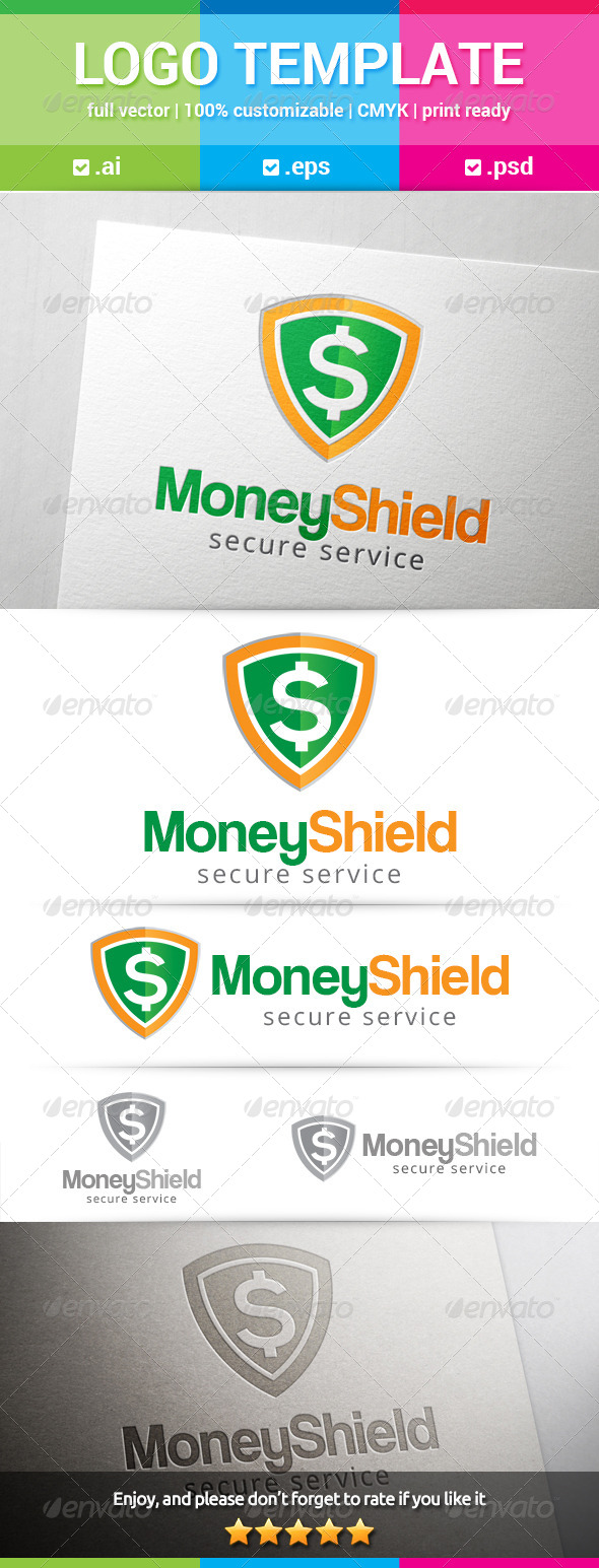 GraphicRiver Money Shield Logo 8520441