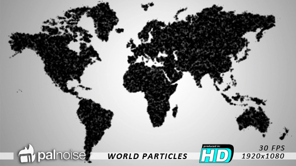 World Map Particles