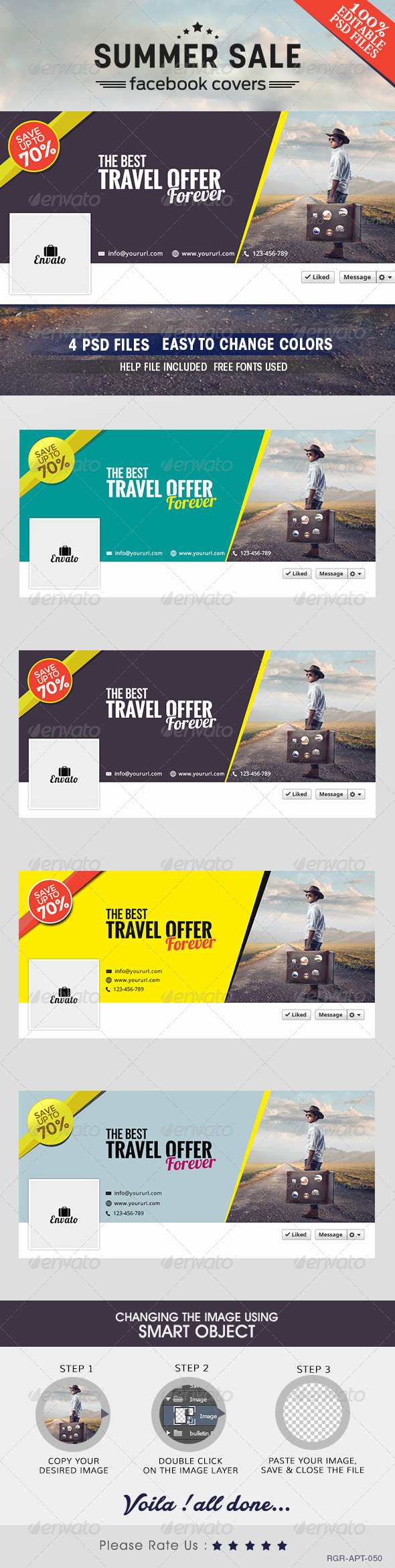 GraphicRiver Travel Facebook Covers 8520514