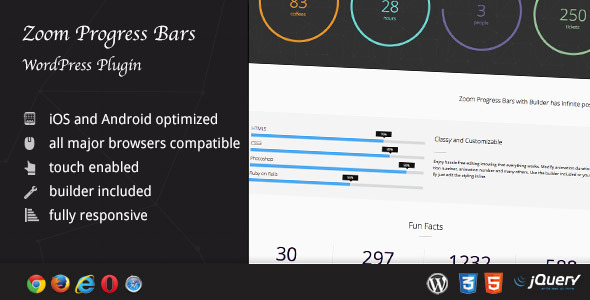 CodeCanyon Zoom Progress Bars WordPress Plugin 8520532