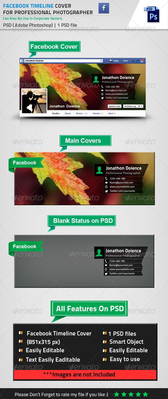 GraphicRiver Facebook Timeline Cover Photo For Photographer 8518735