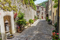 Narrow street in the old town in Italy - PhotoDune Item for Sale