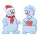 Snowballs with a Gift Box - GraphicRiver Item for Sale