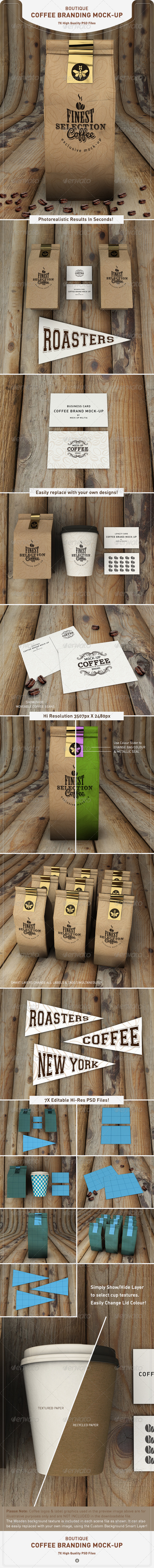 GraphicRiver Coffee Bag Mock-Up Coffee Branding Mock-Up 8520793