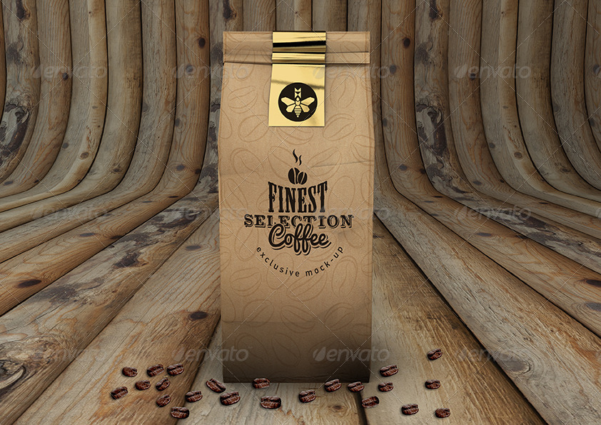 Coffee Bag Mock Up Coffee Packaging Mock Up By Mock Up