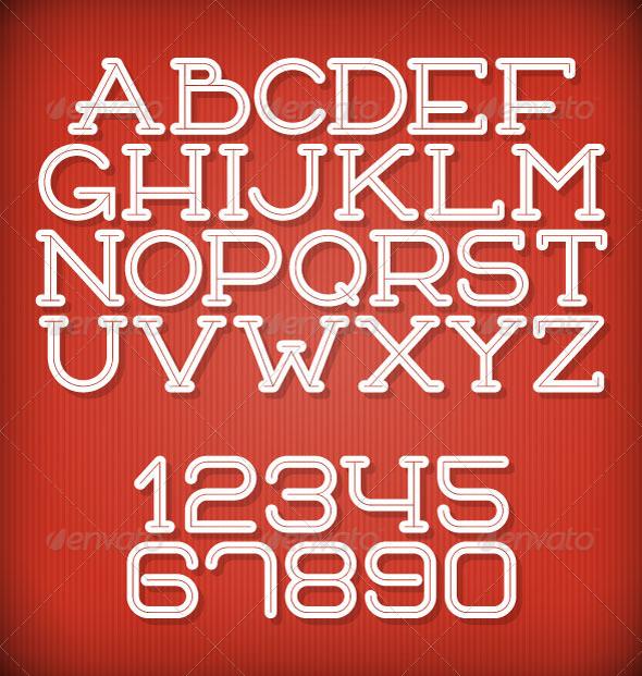 GraphicRiver Inline Retro Font 8520796