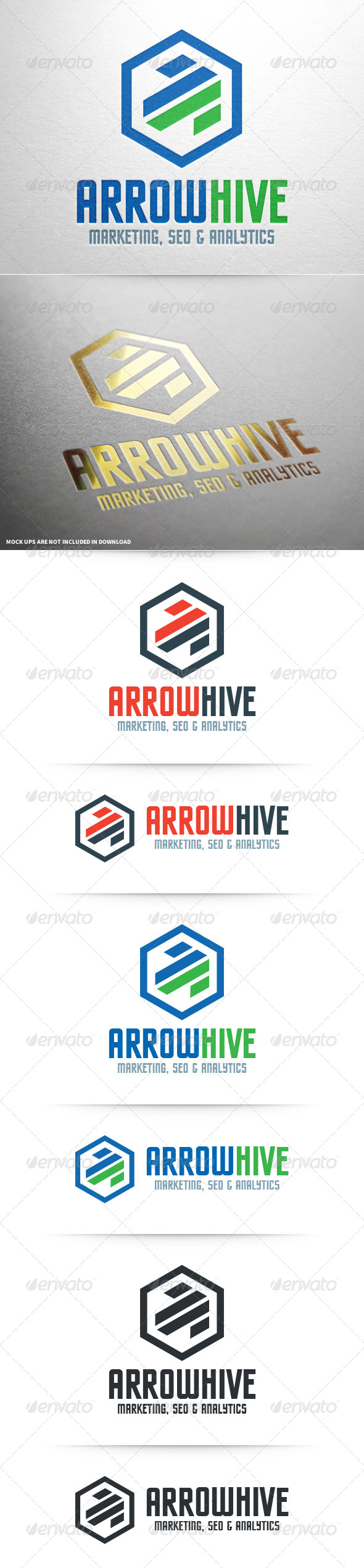 GraphicRiver Arrow Hive Logo Template 8520814
