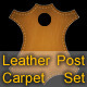 Leather Carpet Set