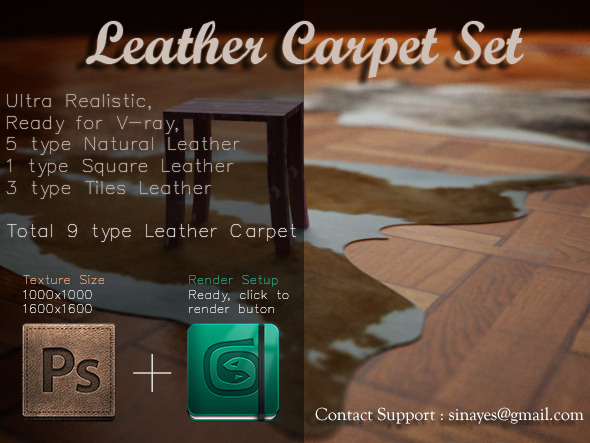 3DOcean Leather Carpet Set 8520836