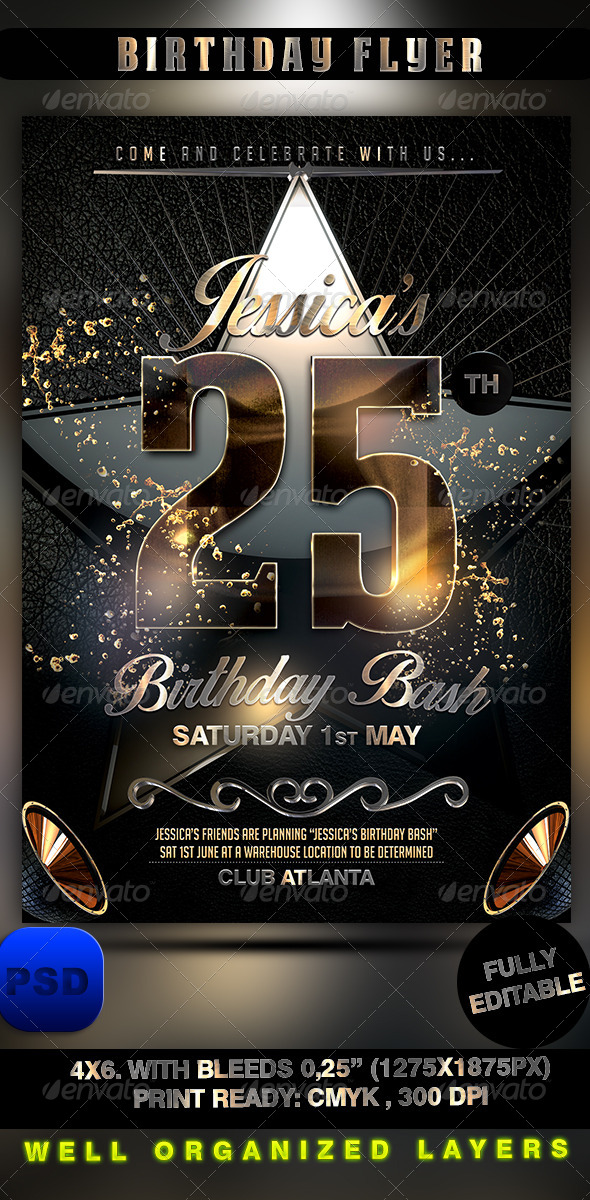 GraphicRiver Birthday Flyer 8520878