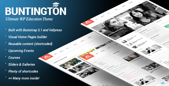Buntington - Education HTML Template