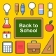 School Icons Set. Vector  - GraphicRiver Item for Sale