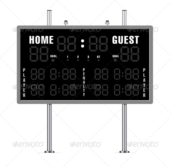 GraphicRiver American Football Scoreboard 8521136