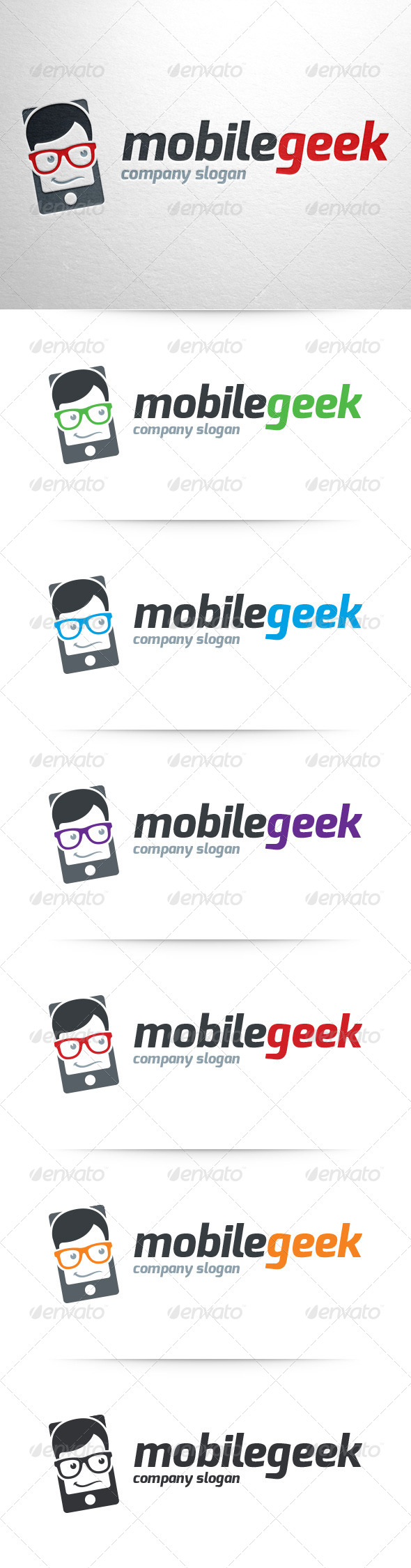 GraphicRiver Geek Mobile Logo Template 8521149