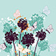 Background with Butterflies and Wildflowers - GraphicRiver Item for Sale