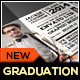 Chalkboard Graduation Announcement Card II - GraphicRiver Item for Sale