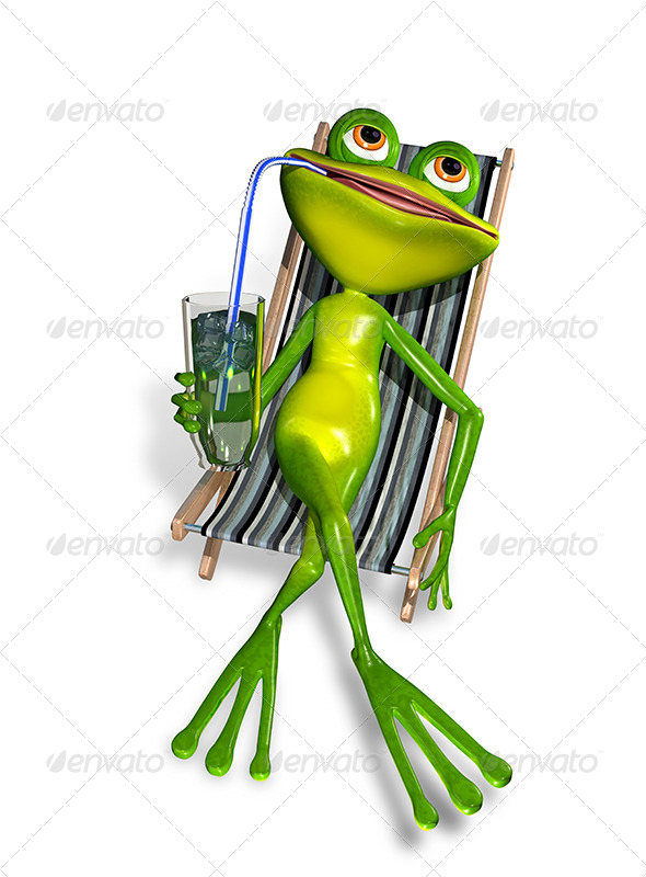 Frog in a Deck Chair