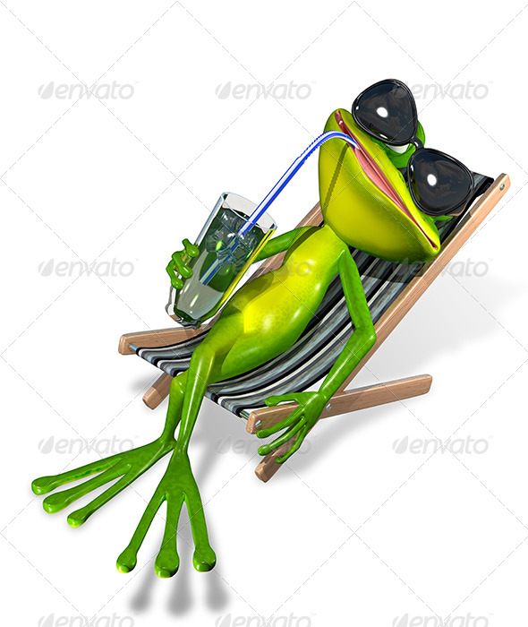 GraphicRiver Frog in a Deck Chair 8521215