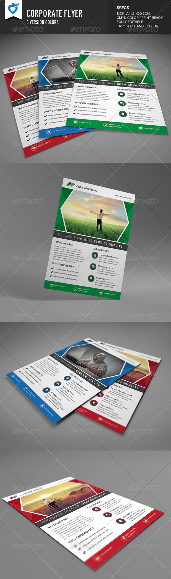 GraphicRiver Corporate Flyer Multipurpose 8521224