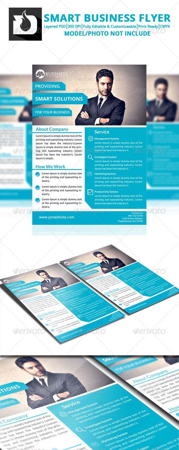 GraphicRiver Smart Bussines Flyer Template V2 8521235