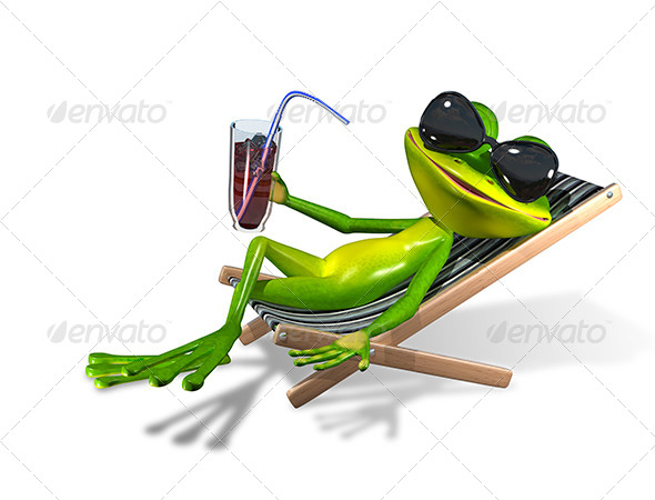 GraphicRiver Frog in a Deck Chair 8521280