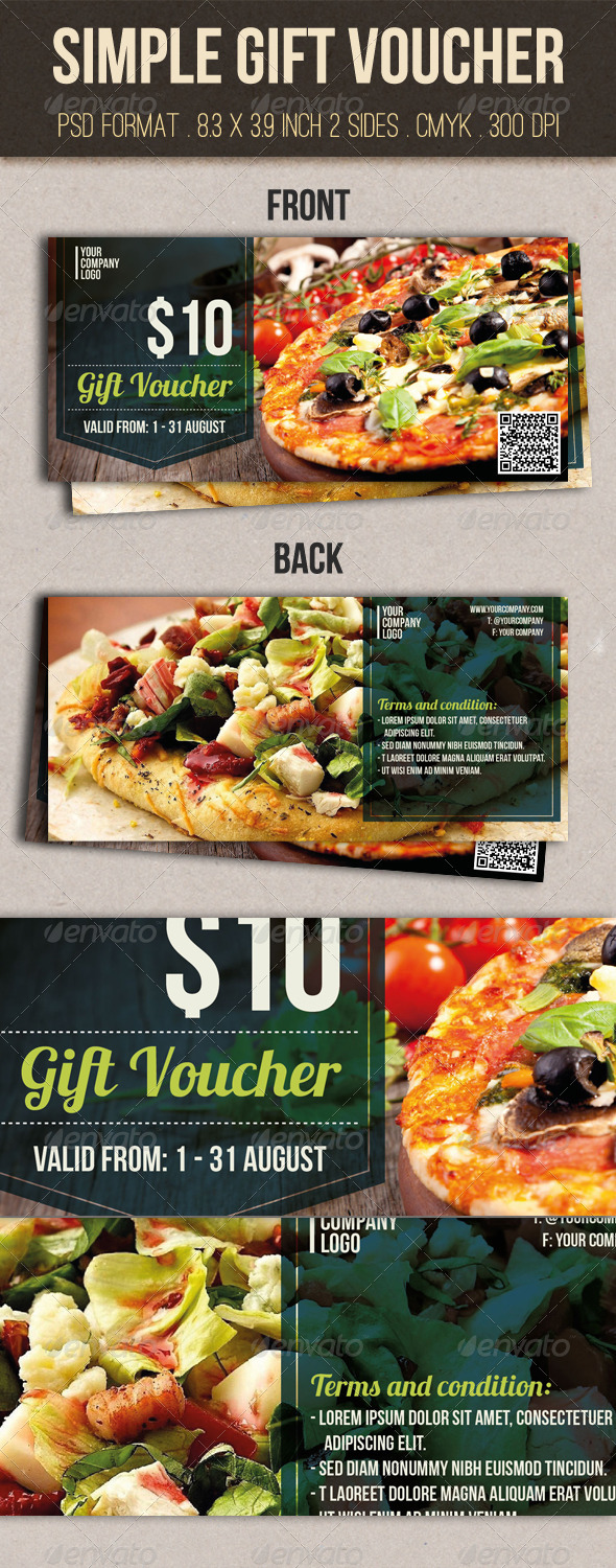 GraphicRiver Simple Gift Voucher 8521365