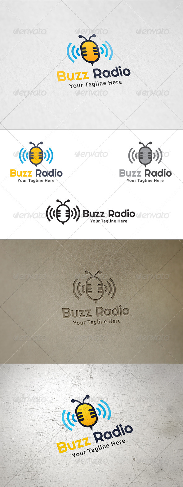 GraphicRiver Bee Radio Logo Template 8521451
