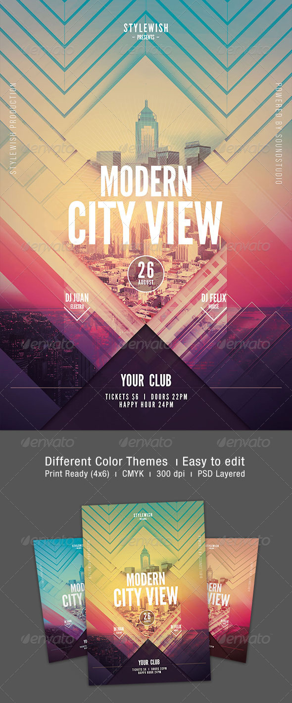 GraphicRiver Modern City View Flyer 8521452