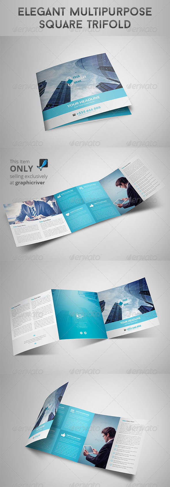 GraphicRiver Elegant Multipurpose Square Trifold 8519574