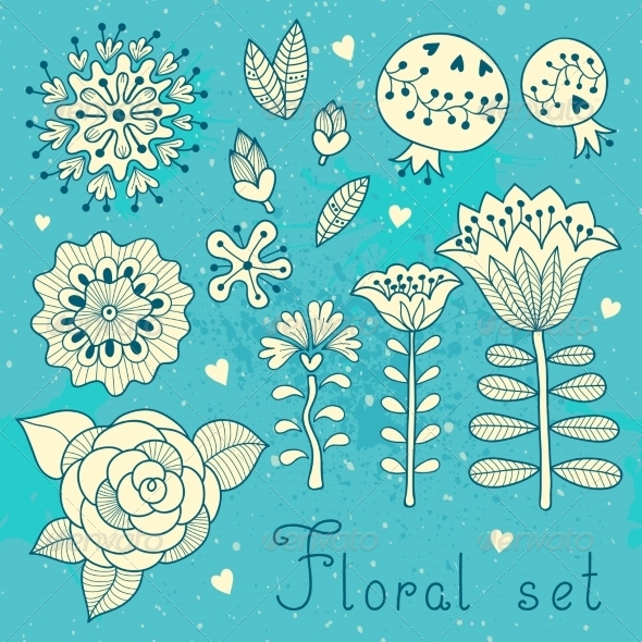 GraphicRiver Floral Elements 8521862