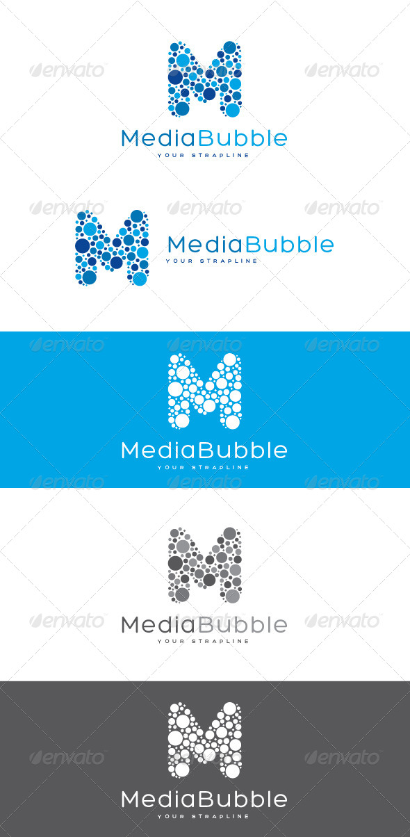 GraphicRiver Media Bubble Letter M Logo 8522161