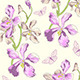 Pattern with Orchids and Butterflies - GraphicRiver Item for Sale