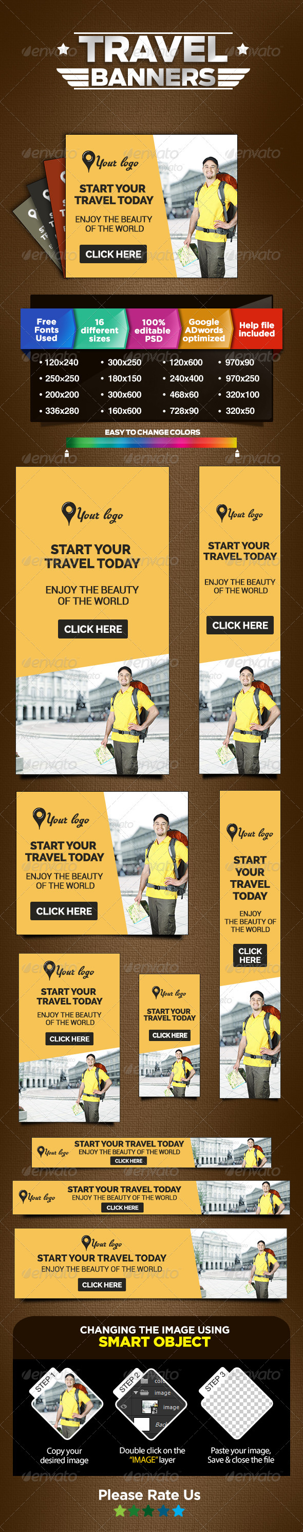 GraphicRiver Travel Ads Web Marketing Banners 8522236