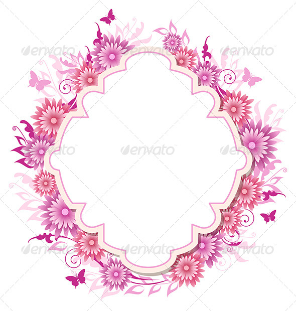 GraphicRiver Background with Pink Flowers 8522258