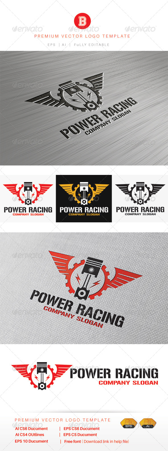 GraphicRiver Power Racing 8522554