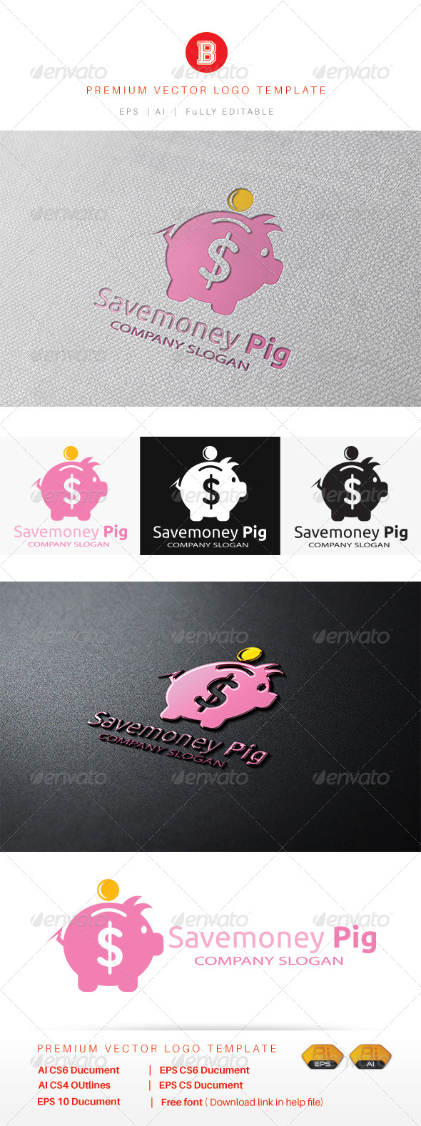GraphicRiver Savemoney Pig 8522558