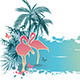 Palms and Flamingo - GraphicRiver Item for Sale
