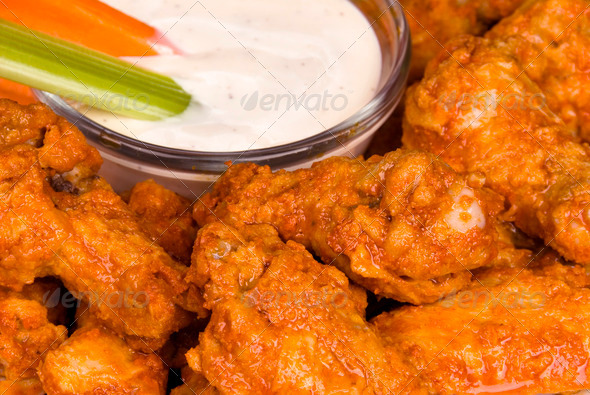 Stock Photo - PhotoDune Hot wings with dipping sauce 882584