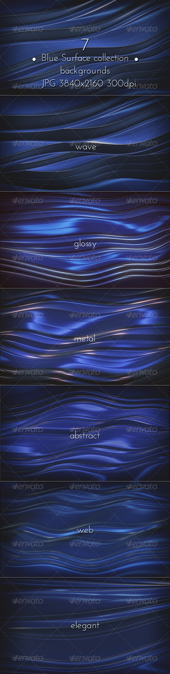 GraphicRiver Blue Metal Web Abstraction 8522659