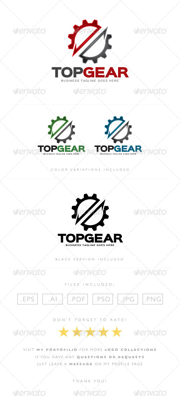 GraphicRiver Top Gear Logo 8522678
