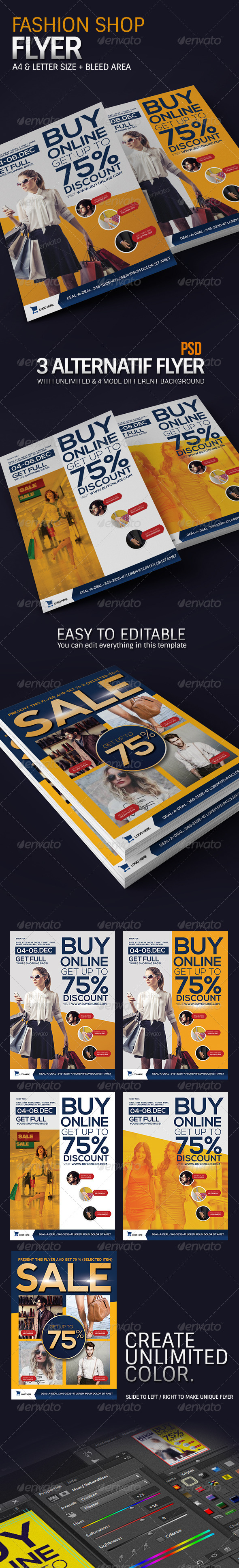 GraphicRiver Modern Fashion Promotion Flyer 8519595