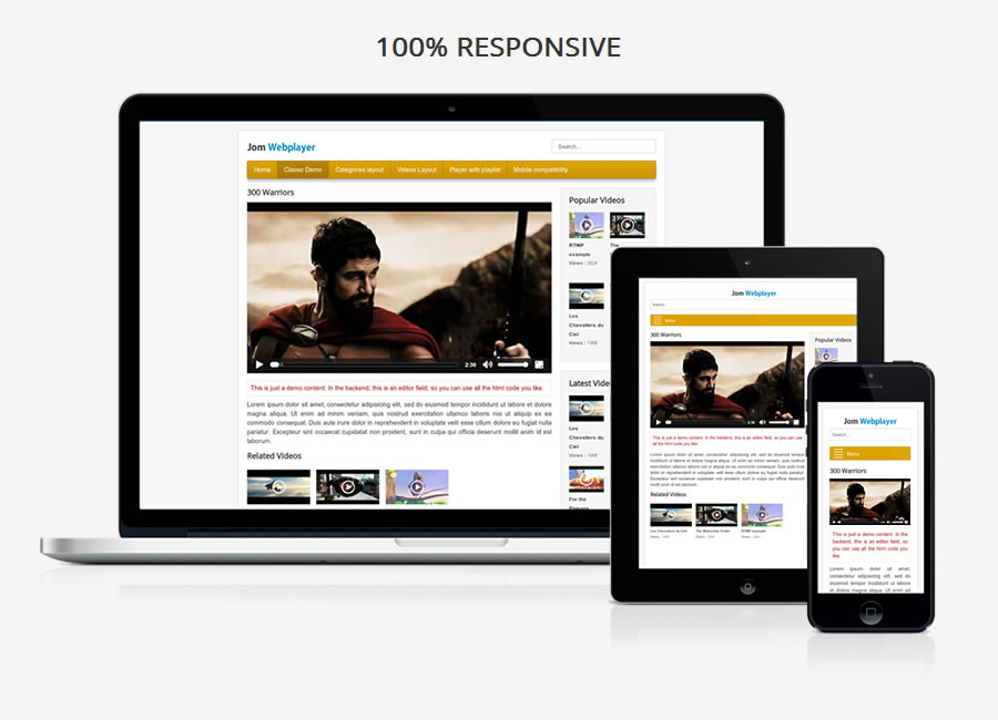 Jom Webplayer - A Joomla Video Gallery Extension - 1