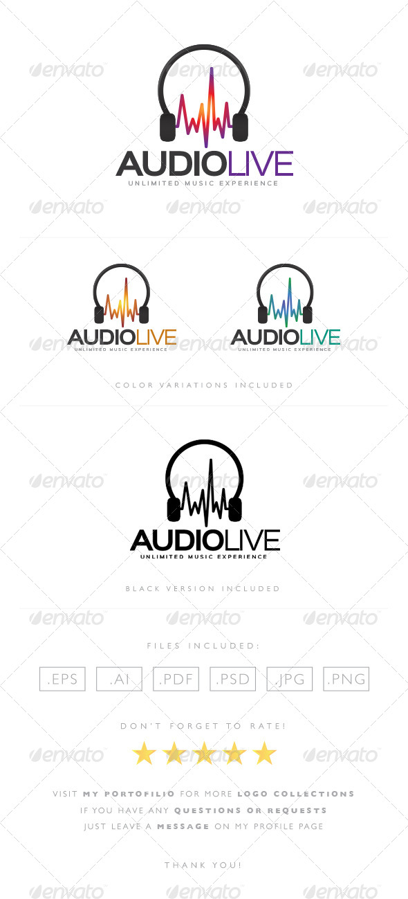 GraphicRiver Audio Live Logo 8522836